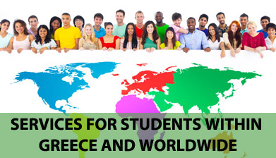 Services for Students within Greece and worldwide